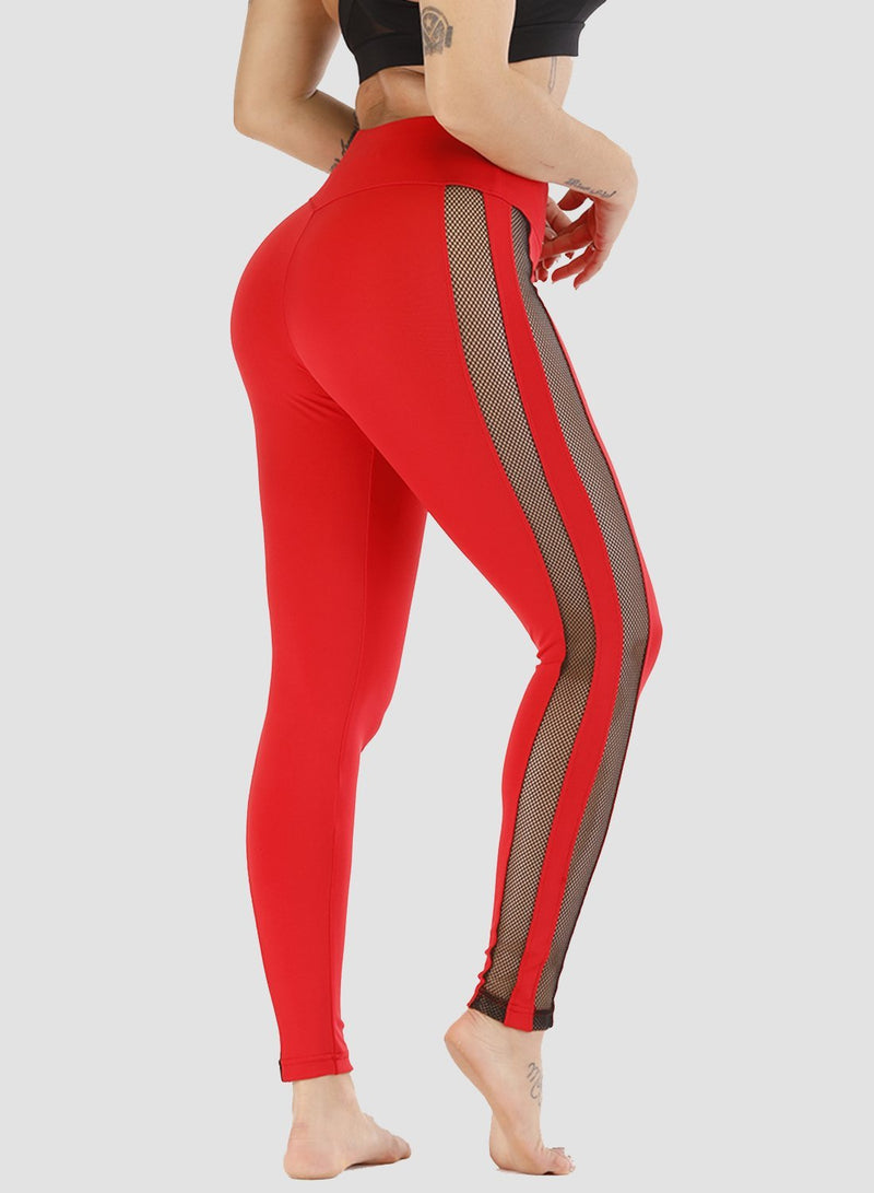 Mesh Stitching Breathable Leggings