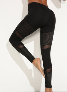 Mesh Hollow Sweat-wicking Leggings