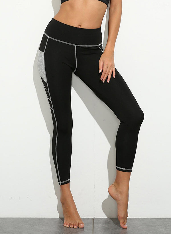 Two-tone Pockets Tight Fit Leggings