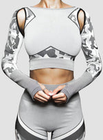 Load image into Gallery viewer, Breathable Camo Bare Shoulder Top
