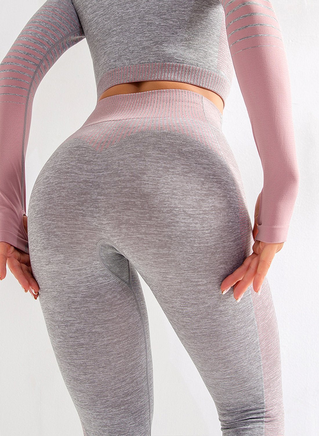 Super Stretchy Seamless Gradient Color Leggings-JustFittoo