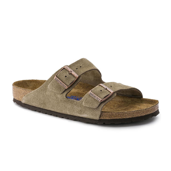 Birkenstock Arizona - Taupe suede Soft Footbed