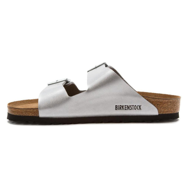 Birkenstock Arizona - Silver Soft Footbed
