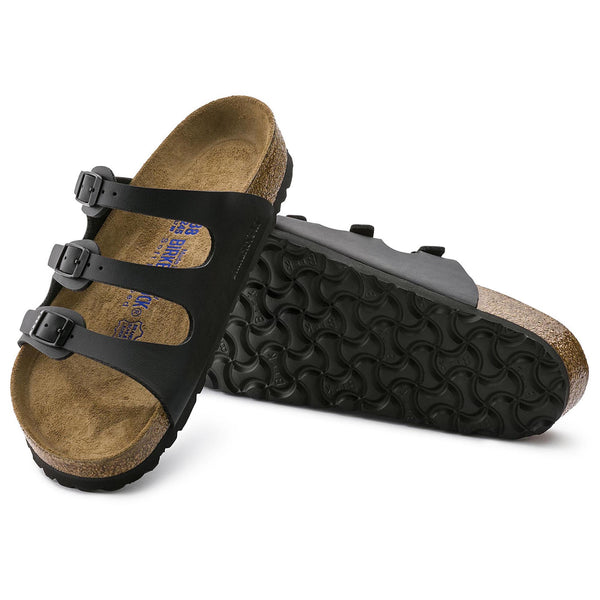 Birkenstock Florida - Black Soft Footbed