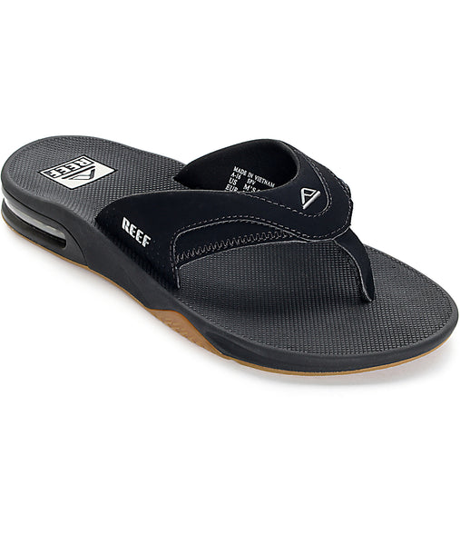 Reef Fanning Black Silver - mens