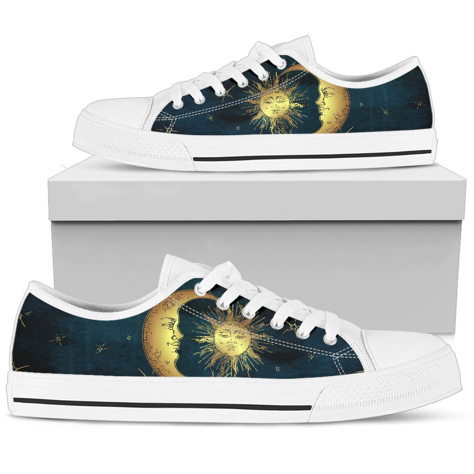 Moon and Sun Boho Gypsy Low Top Shoes - Wonder Hippie Official