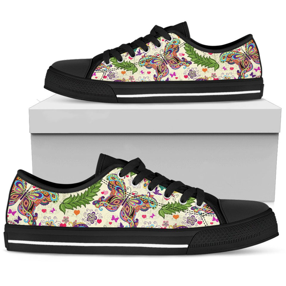 Butterfly Low Top Shoes - Wonder Hippie Official