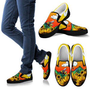 Bee Sunflower Slip On Shoes - Wonder Hippie Official