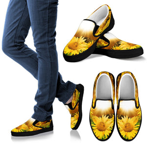 Sunflower Hippie Slip On Shoes 2 women - Black - Wonder Hippie Official