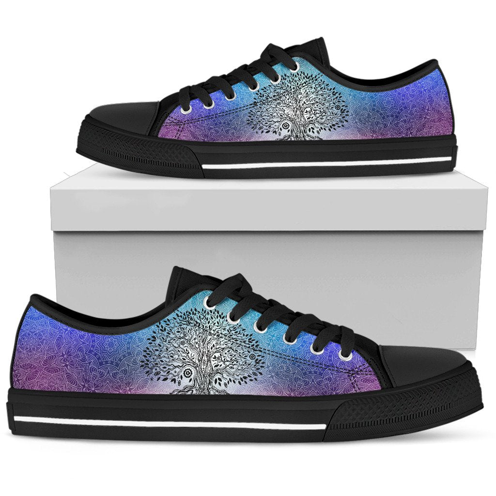 Tree Life Boho Mandala Low Top Shoes - Wonder Hippie Official