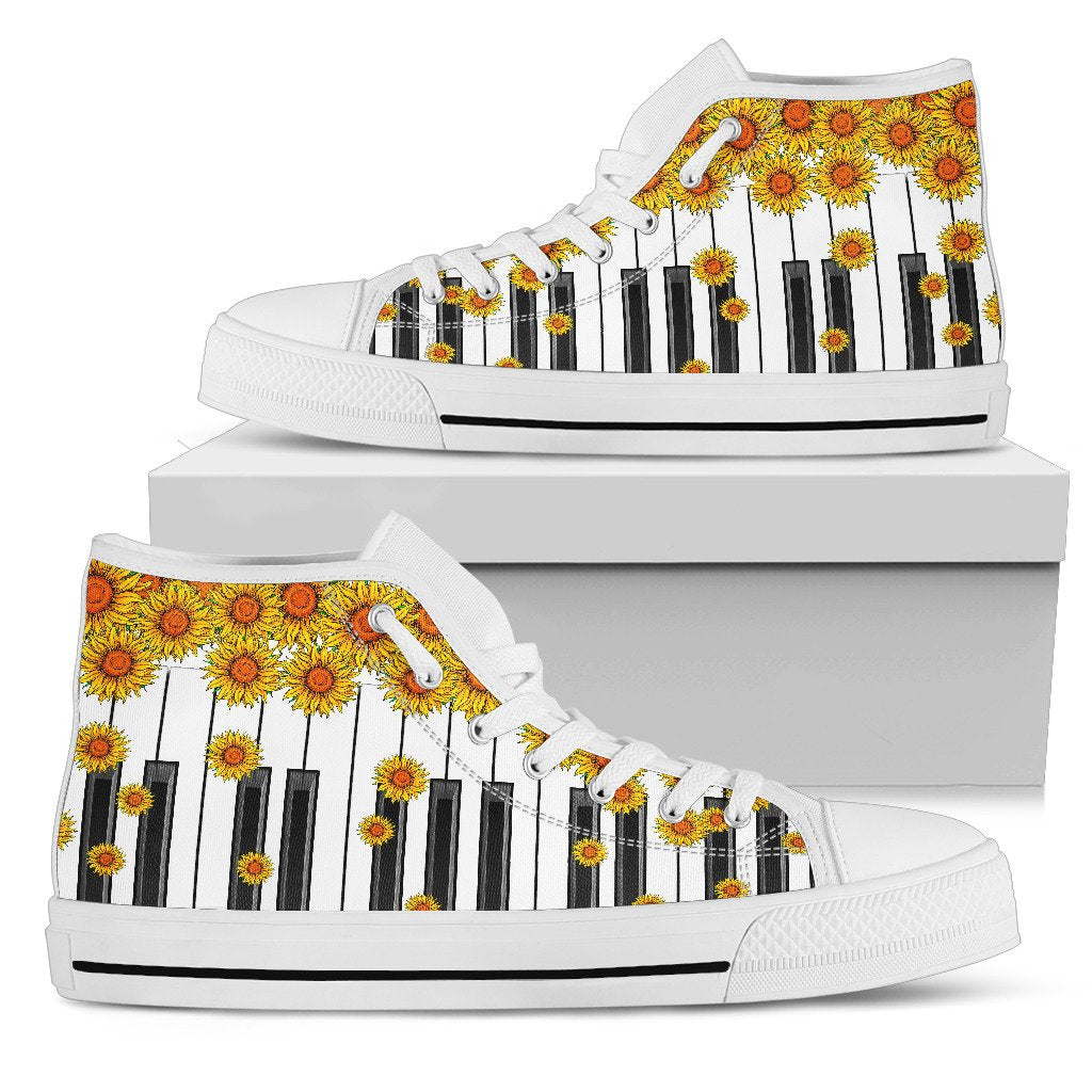 Sunflower Piano Key HighTop Shoe - Wonder Hippie Official