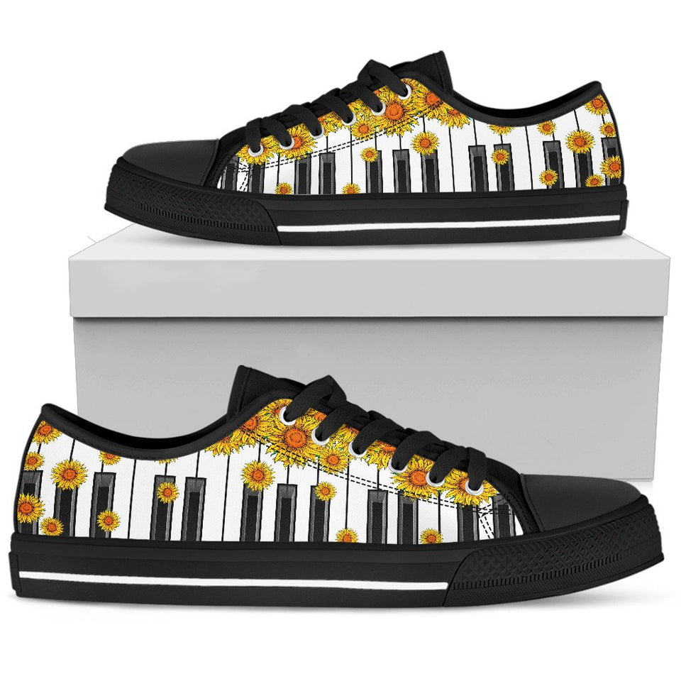 Sunflower Piano Key LowTop Shoe - Wonder Hippie Official