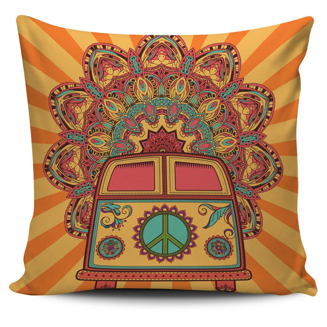 Hippie Bus Mandala Pillow Case 450x450mm - Wonder Hippie Official