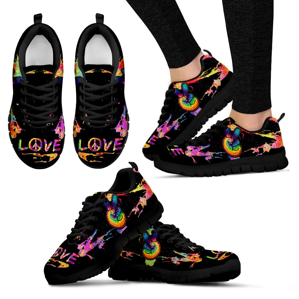 Peace Love Hippie Fingers Sneaker - Wonder Hippie Official