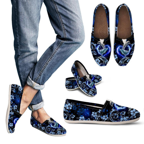Amazing Dolphin Flower Women Casual Shoe - Wonder Hippie Official
