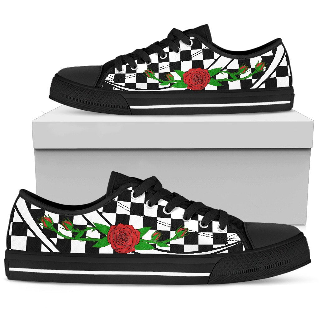 ROSES LOWTOP WOMEN - BLACK - Wonder Hippie Official