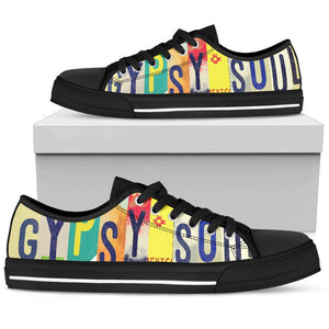 Gypsy Soul Low Top Shoes WOMEN - BLACK - Wonder Hippie Official