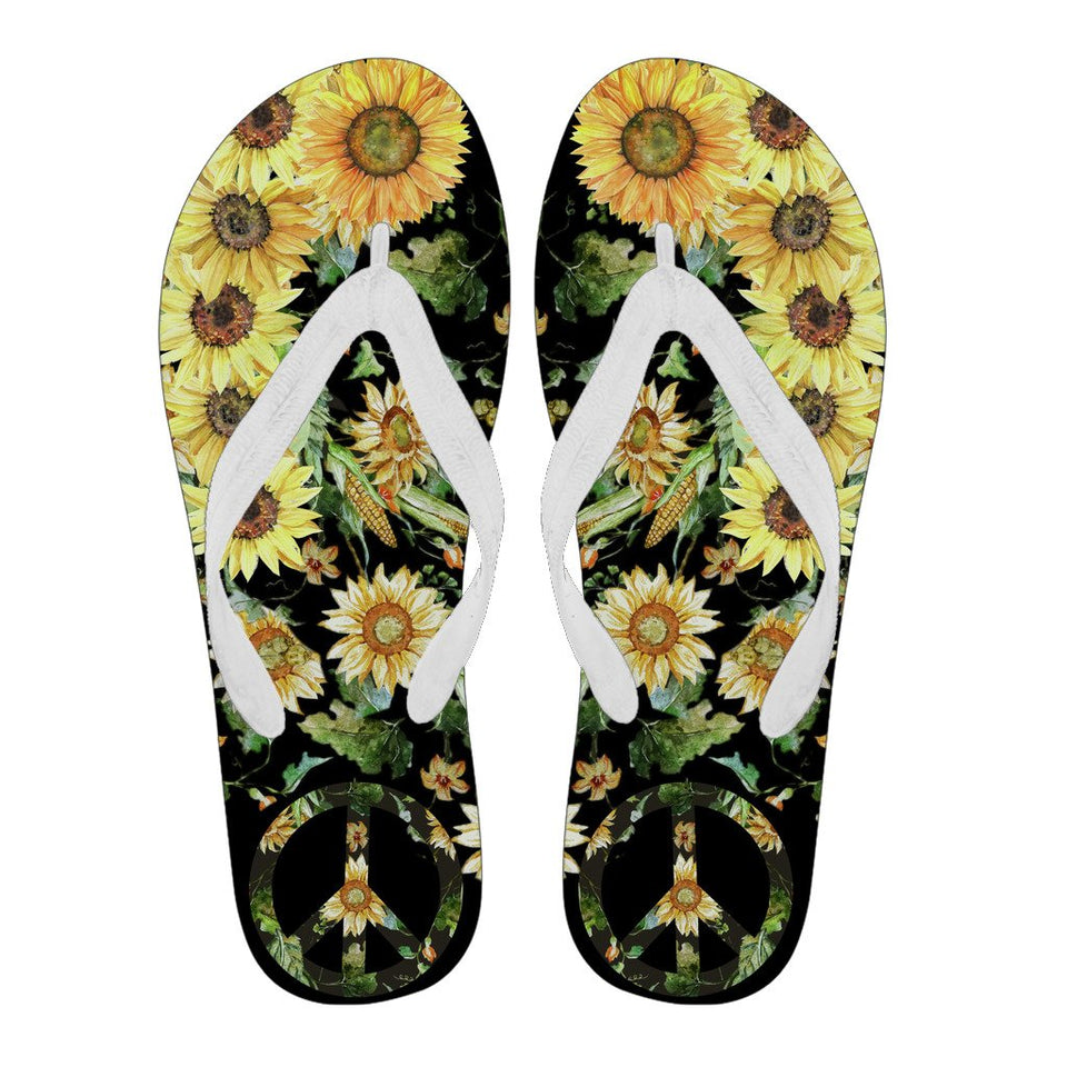 Sunflower Boho Hippie Summer Flip Flop - Wonder Hippie Official