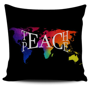 Teach Peace Hippie Pillow Case 450x450mm - Wonder Hippie Official