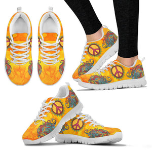 Hippie Peace Sign Mandala Sneaker - Wonder Hippie Official