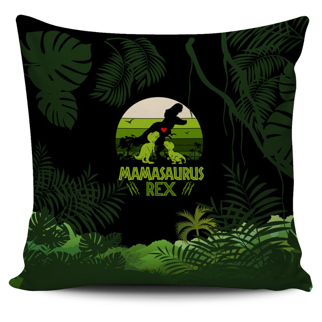 Mama Saurus Mother's Day Dinosaur Pillow Cover - Wonder Hippie Official