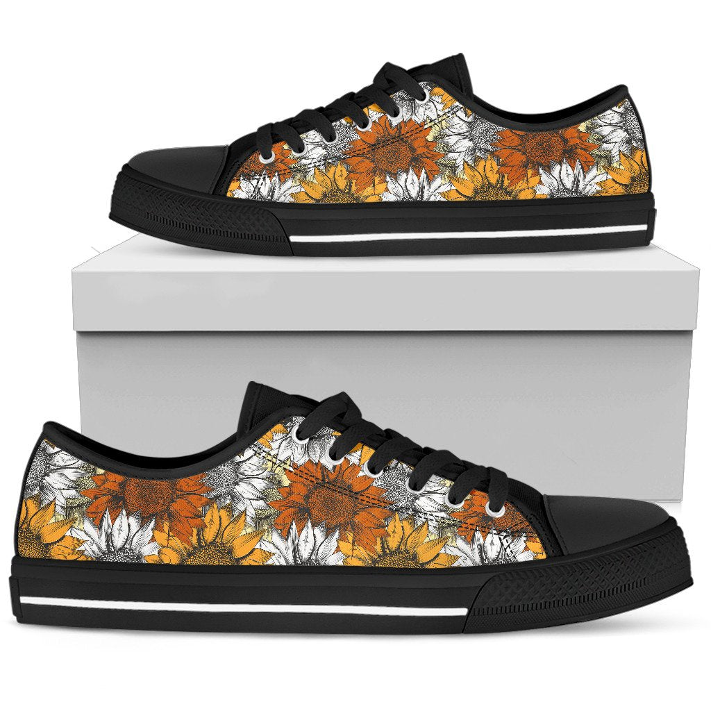 Sunflower Low Top Shoes WOMEN - BLACK - Wonder Hippie Official