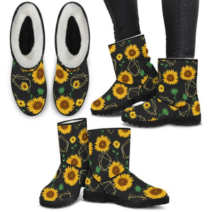 Sunflowers Fur Boots - Wonder Hippie Official