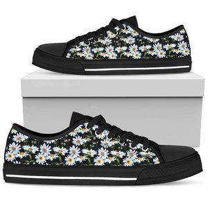 Daisy Wild Flower Low Top Shoes For Women - Wonder Hippie Official