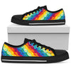 Multi Colors Peace Sign Hippie Rainbow Low Top Shoes - Wonder Hippie Official
