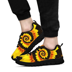 Twisted Tornado Sunflower Sneakers Black - Wonder Hippie Official