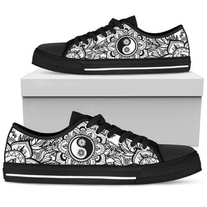 Ying And Yang Mandala Boho Low Top Shoes - Wonder Hippie Official