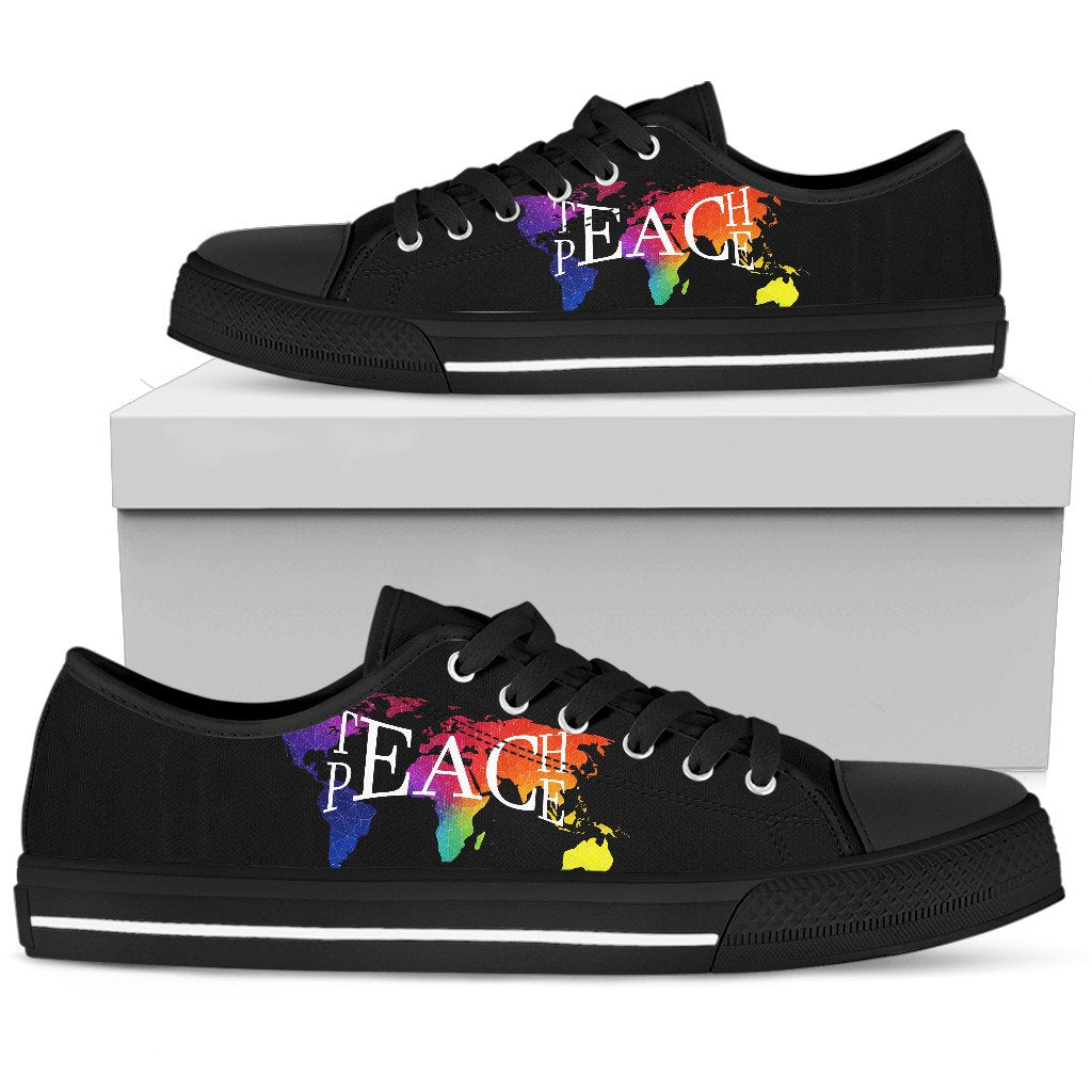 Teach Peace Hippie Boho Low Top Shoes - Wonder Hippie Official