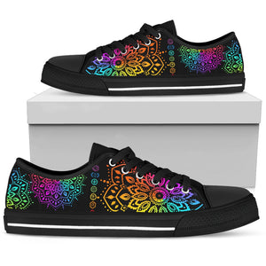 Multi Colors Mandala Hippie Boho Low Top Shoes - Wonder Hippie Official