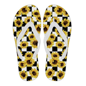 Sunflower Flip Flop For Men/Women - Black/White - Wonder Hippie Official