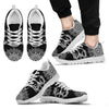 Black White Mandala Teach Peace Boho Hippie Sneaker - Wonder Hippie Official