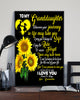Letter To My Granddaughter Sunflower Poster 16x24""