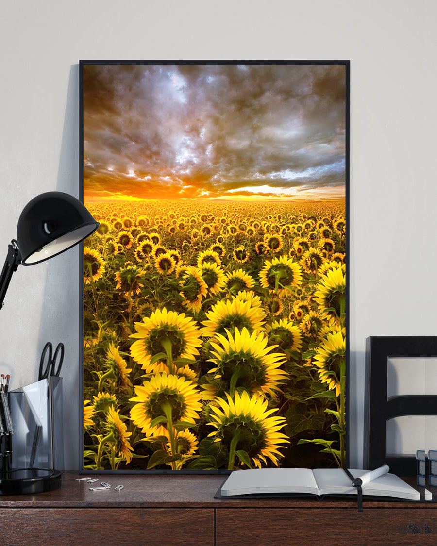 Sunflower Sunset Storm Artwork Poster 16x24""