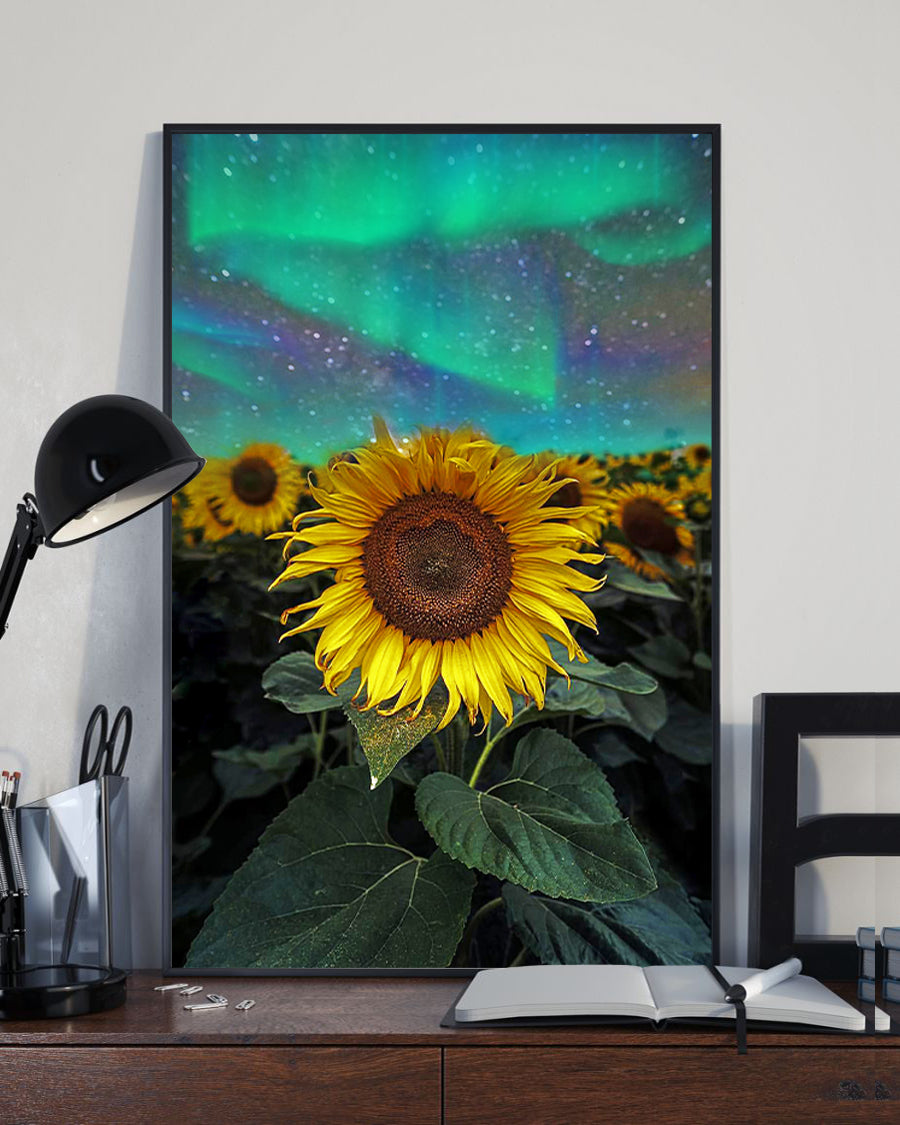 Sunflower Aurora Borealis Artwork Poster 16x24""