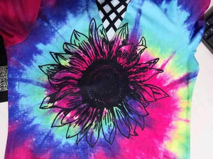 New Style Tie Dye Sunflower Hippie Boho full print shirt - Wonder Hippie Official