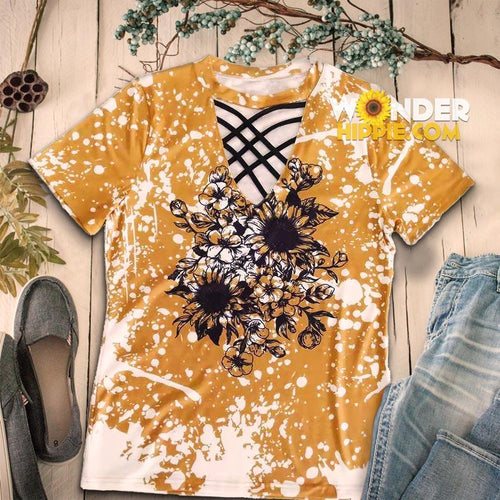 New Style Sunflower shirt - Wonder Hippie Official