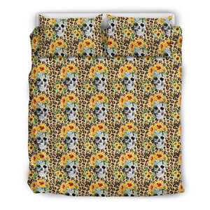 Sunflower Skull Pattern Bedding Set - Wonder Hippie Official