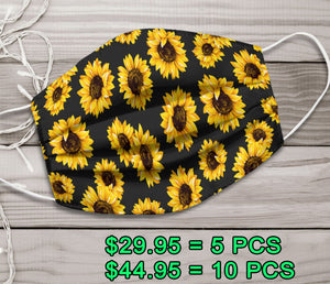 Pattern Sunflowers Cloth Facemask