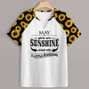Sunflower Raglan Birthday T-shirt For Women