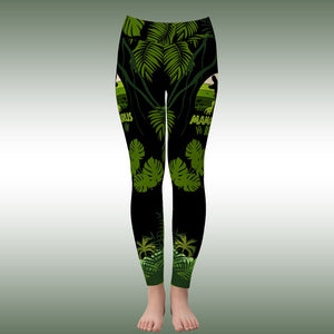 Cute Mama Saurus T-rex Dinosaur Mother Yoga Sporty Leggings Pant For Women