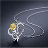 Sunflower Necklace S925 Sterling Silver - Wonder Hippie Official