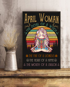 April Woman The Soul Of A Witch Hippie Poster 16x24""
