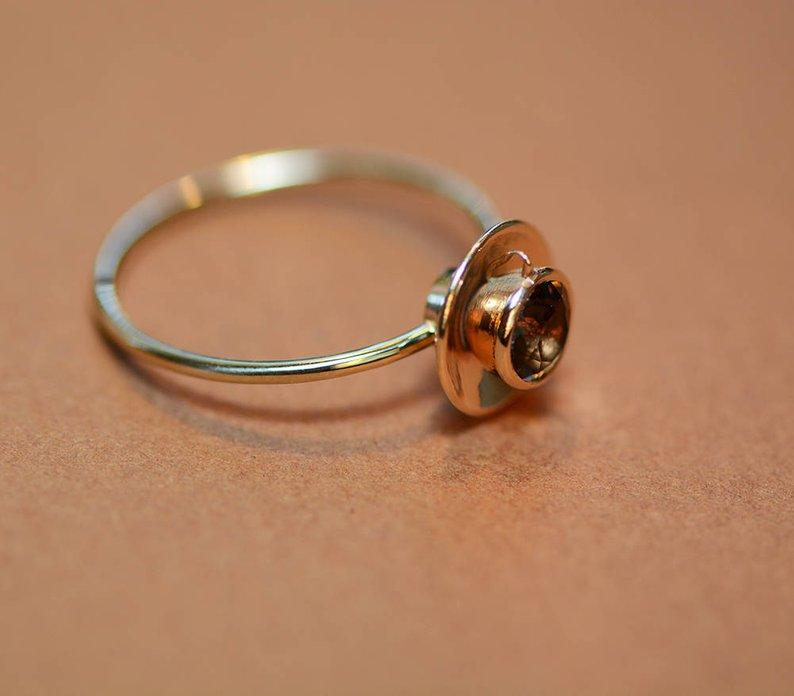 Coffee Golden Color Ring - Wonder Hippie Official