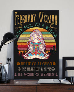 February Woman The Soul Of A Witch Hippie Poster 16x24""