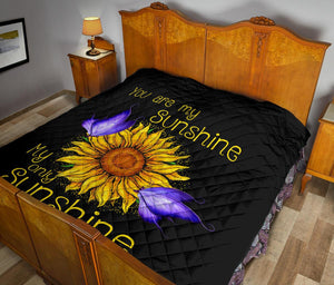 You are my sunshine sunflower quilt for bedding - Wonder Hippie Official
