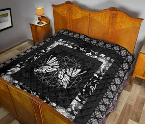 Butterfly Gothic Premium Quilt - Wonder Hippie Official